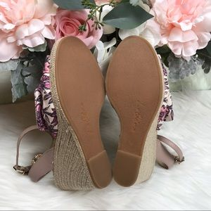 6395bfe439dd Sam Edelman Shoes - Sam Edelman Pink Aubrey Wedge Sandals Sz 8 NWOB